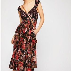 FREE PEOPLE LOVE YOU FLORAL MIDI DRESS